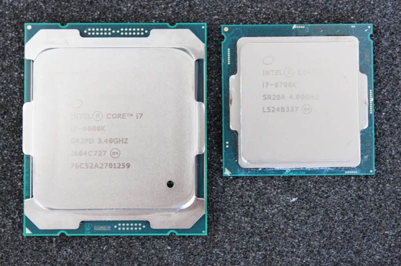 Differences Between intel 6700k vs 6800k