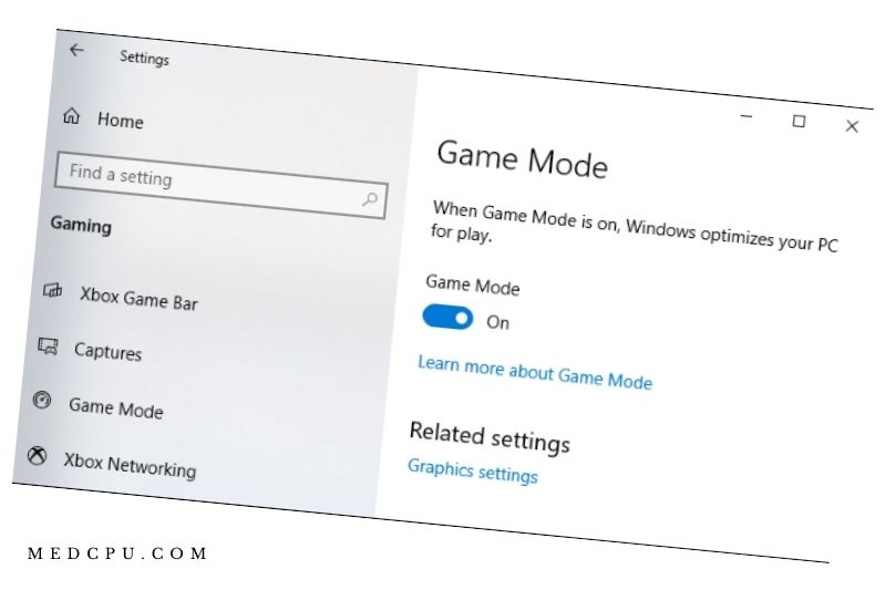 Enable Game Mode on Windows 10