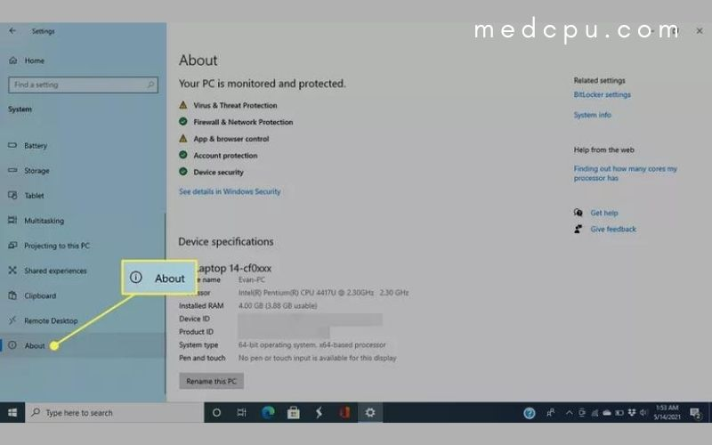 Find laptop model number