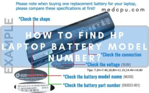 how to find hp laptop battery model number