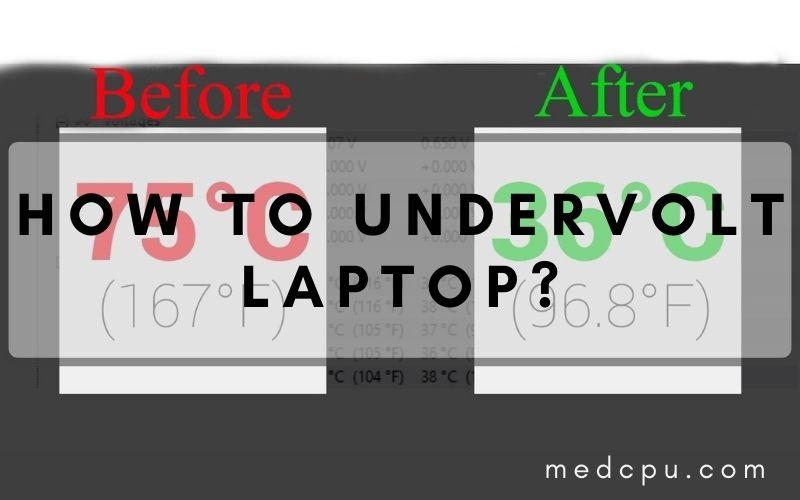 how to undervolt laptop